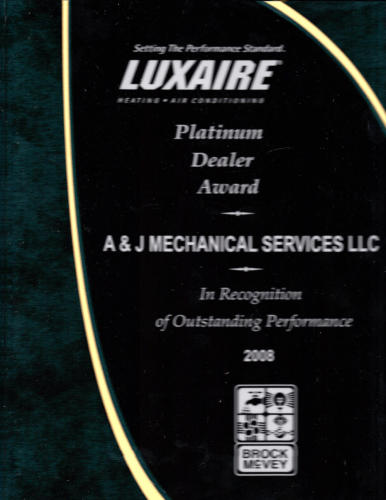 Luxaire 2008 Platinum Dealer