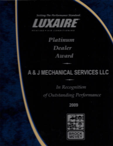 Luxaire 2009 Platinum Dealer